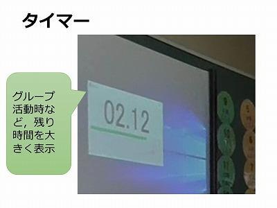 電子黒板-タイマー