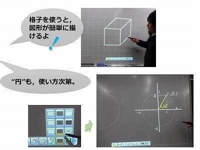 電子黒板-黒画面+白ペン