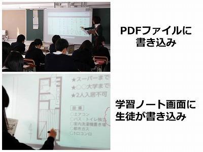 電子黒板-PDF,ノート画面に書き込み